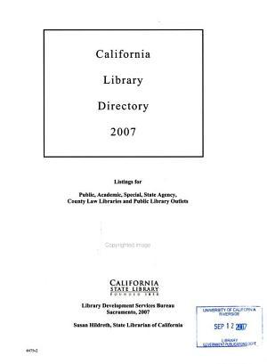 California Library Directory PDF
