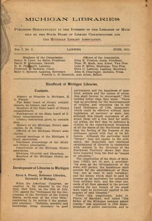 Michigan Libraries PDF