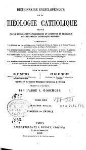 Dictionnaire encyclopédique de la théologie catholique: rédigé par les plus savants professeurs et docteurs en théologie de l'Allemagne catholique moderne...