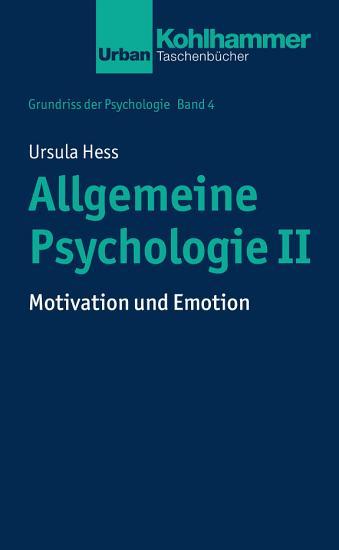 Allgemeine Psychologie II PDF
