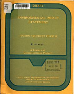 Tucson Aqueduct  Phase B  Central Arizona Project PDF