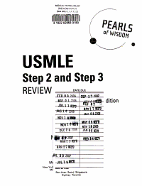 USMLE Step 2 and Step 3 Review  Pearls of Wisdom  Second Edition PDF