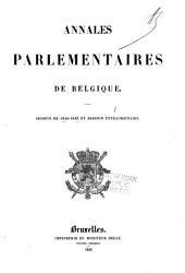 Annales parlementaires: Volume1