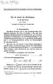 Über die Gesetze des Mitschwingens: vorgelegt in der Sitzung vom 11. December 1862
