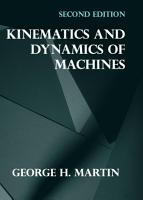 Kinematics and Dynamics of Machines PDF