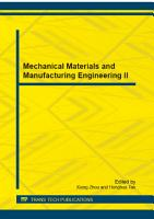 Mechanical Materials and Manufacturing Engineering II PDF