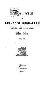 """Opere volgari di Giovanni Boccaccio: Decameron [incl. Fiacchi's """"Lezione,"""" """"Osservazioni"""" ed """"Il corbaccio"""""""