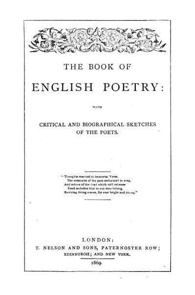 Download The Book of English Poetry Book