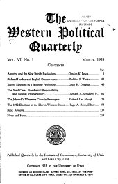 The Western Political Quarterly PDF