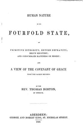 The Whole Works of the Late Reverend and Learned Mr  Thomas Boston  Minister of the Gospel at Etterick PDF