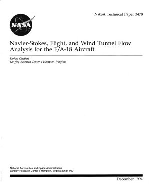 Navier Stokes  Flight  and Wind Tunnel Flow Analysis for the F A 18 Aircraft