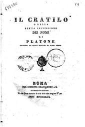 Il Cratilo, o della retta invenzione dei nomi di Platone