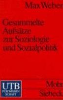 Gesammelte Aufs  tze zur Soziologie und Sozialpolitik PDF