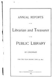 Report [of The] Public Library of Cincinnati and Hamilton County
