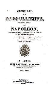 Memoires de M. de Bourrienne, ministre d'etat: Volume7
