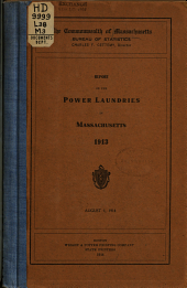 Report on the Power Laundries in Massachusetts, 1913