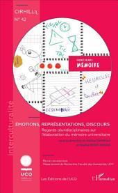 Émotions, représentations, discours: Regards pluridisciplinaires sur l'élaboration du mémoire universitaire