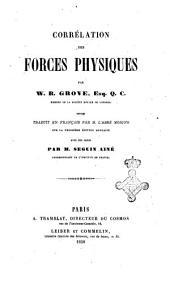 Correlation des forces physiques par W. R. Grove