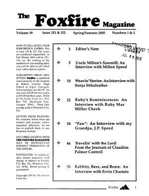 The Foxfire Magazine