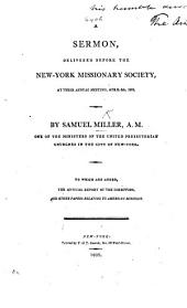 A Sermon [on Heb. ii. 3] delivered before the New York Missionary Society, at their annual meeting, etc