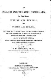 An English and Turkish Dictionary