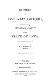 Reports of Cases in Law and Equity, Determined in the Supreme Court of the State of Iowa: Volume 70