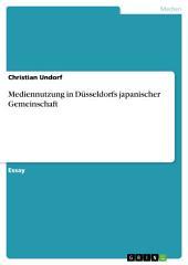 Mediennutzung in Düsseldorfs japanischer Gemeinschaft