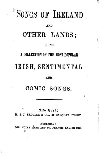 Songs of Ireland and Other Lands