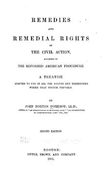 Remedies and Remedial Rights by the Civil Action  According to the Reformed American Procedure PDF