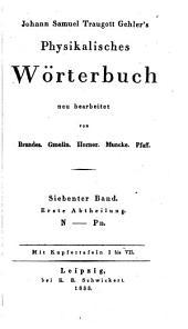 Physikalisches wörterbuch: Band 7,Teil 1