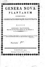 Genera nova plantarum iconibus observationibusque illustrata