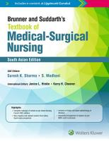 Brunner and Suddarth   s Textbook of Medical Surgical Nursing PDF