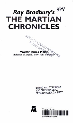 Ray Bradbury s The Martian Chronicles