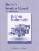 Student s Solutions Manual for Business Mathematics PDF