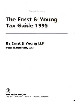 The Ernst and Young Tax Guide 1995 PDF