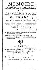 L'état des sciences en France sous François I. La notice historique des lecteurs & professeurs royaux en Hébreu & en Grec