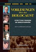 Vorlesungen Uber Den Holocaust PDF