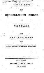 Geschichte der b  rgerlichen Kriege in Granada PDF