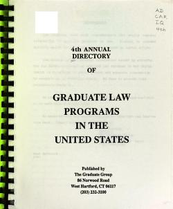 Annual Directory of Graduate Law Programs in the United States PDF