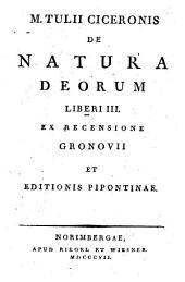 De natura deorum: Lib. III.