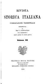 Rivista storica italiana: Volume 12