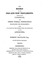 The Books of the Old and New Testaments Proved to be Canonical (etc.) 4. Ed. Enlarged