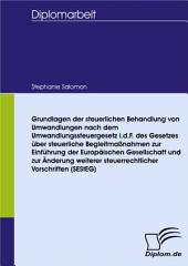 Grundlagen der steuerlichen Behandlung von Umwandlungen nach dem Umwandlungssteuergesetz i.d.F. des Gesetzes über steuerliche Begleitmaßnahmen zur Einführung der Europäischen Gesellschaft und zur Änderung weiterer steuerrechtlicher Vorschriften (SEStEG)