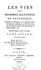 Les vies des hommes illustres: et Supplément aux Vies, Volume2