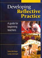 Developing Reflective Practice  A Guide For Beginning Teachers PDF