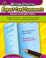 Writing Effective Report Card Comments PDF