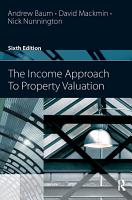 The Income Approach to Property Valuation PDF