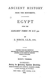 Egypt: From the Earliest Times to B.C. 300