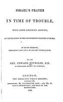 Israel s Prayer in Time of Trouble PDF