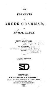 The Elements of Greek Grammar